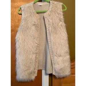 Xhilaration faux fur sweater vest